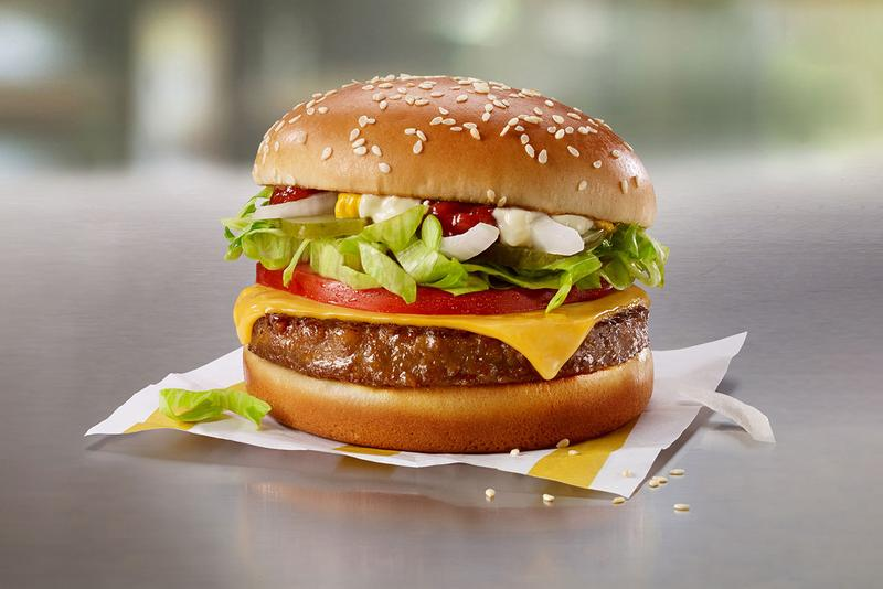 McDonalds Beyond Meat P.L.T. Canada Test Menu Item Fast Food Chain Plant-Based Burger Cheeseburger