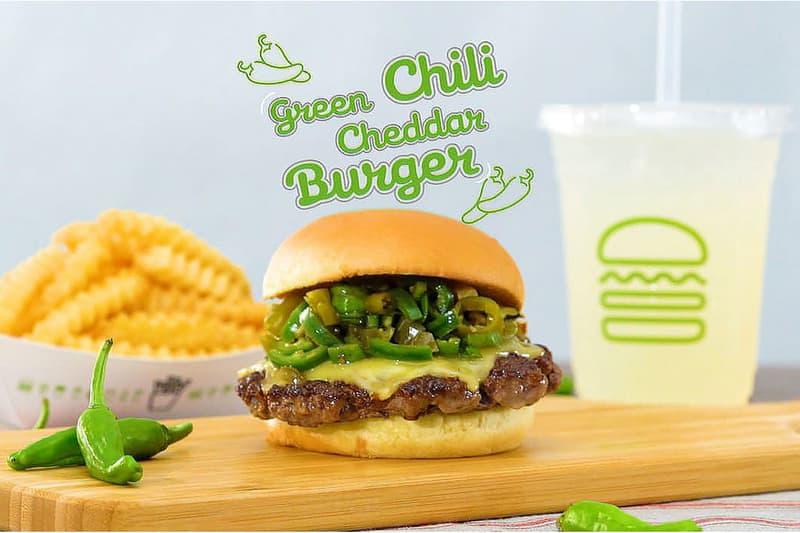 Shake Shack シェイクシャックが日本初登場となるグリーンチリチェダーチーズバーガーを期間限定展開