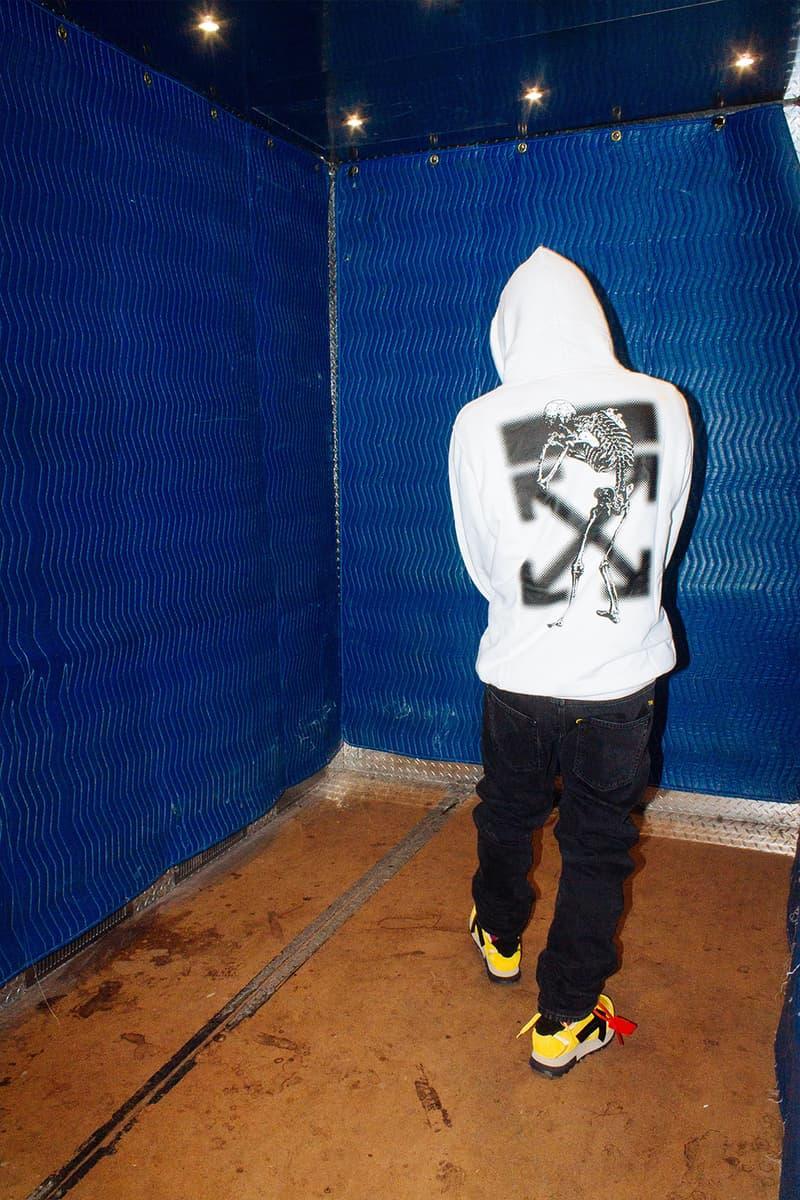 """アンダーカバー x オフホワイト UNDERCOVER x Off-White™ """"UNDEROFFWHITECOVERS"""" Editorial campaign lookbook jun takashi virgil abloh gilapple pants trousers denim hoodies t-shirts collaboration capsule"""