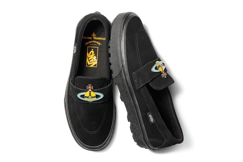 Vivienne Westwood Vans Anglomania Capsule footwear sneakers shoes slip on old skool sk8 hi monogram logo creeper boots leather boots belt