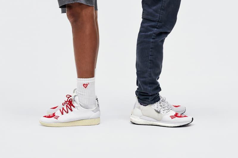 アディダス x ファレル x ヒューマンメイドのコラボコレクションを発表  adidas Originals Pharrell Hu x HUMAN MADE Collaboration sneakers release date info october 5 2019 buy colorway sneaker shoes nigo