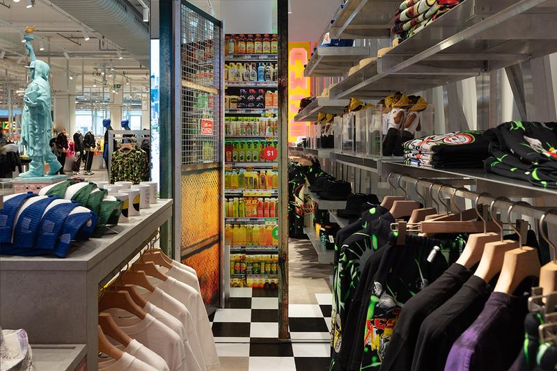 エイサップロッキ アウグ ロンドン セルフリッジズ selfridges asap rocky A$ap yams awge london store look inside first buy cop purchase exclusive merch needles collaboration