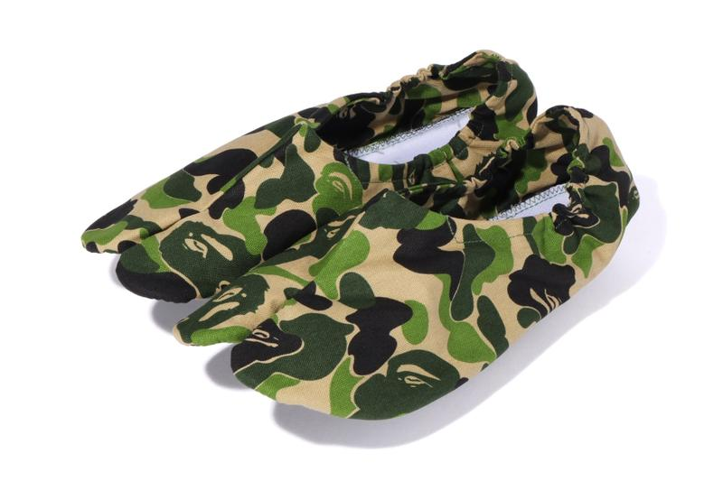 BAPE ベイプ  ABC CAMO カモ柄 Japanese Socks 足袋 靴下 Release a bathing ape green footwear