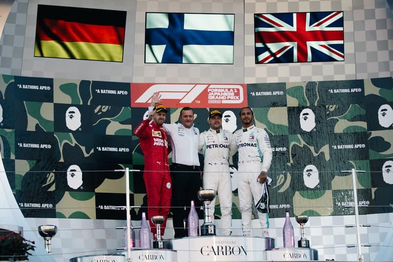 F1 日本GP BAPE ベイプ APE エイプ コラボレーション バルテリ・ボッタス セバスチャン・ベッテル ルイス・ハミルトン