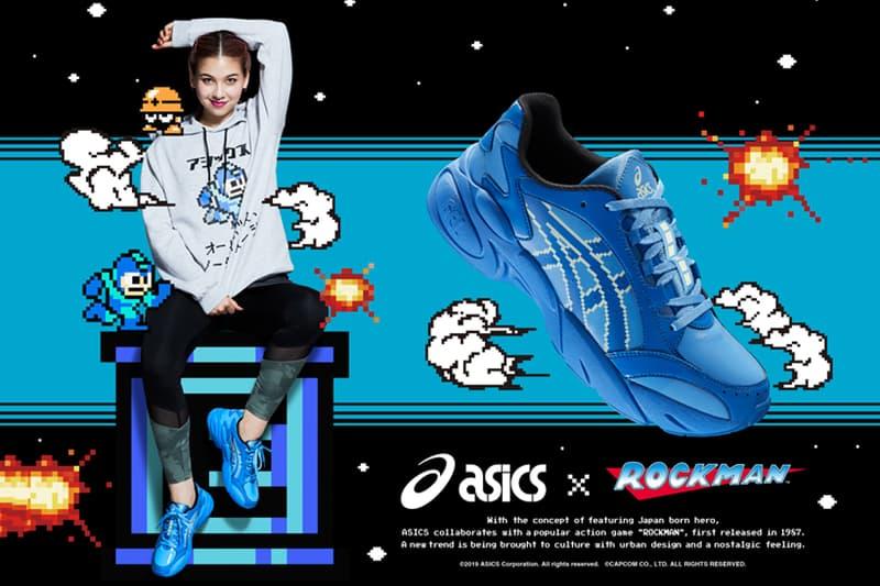 アシックスが人気ゲームシリーズ『ロックマン』をフィーチャーしたカプセルコレクションをリリース capcom mega man megaman rockman rock man gel bnd blue yellow release date info photos 1021A313 400 apparel sneaker colorway running shoe japan
