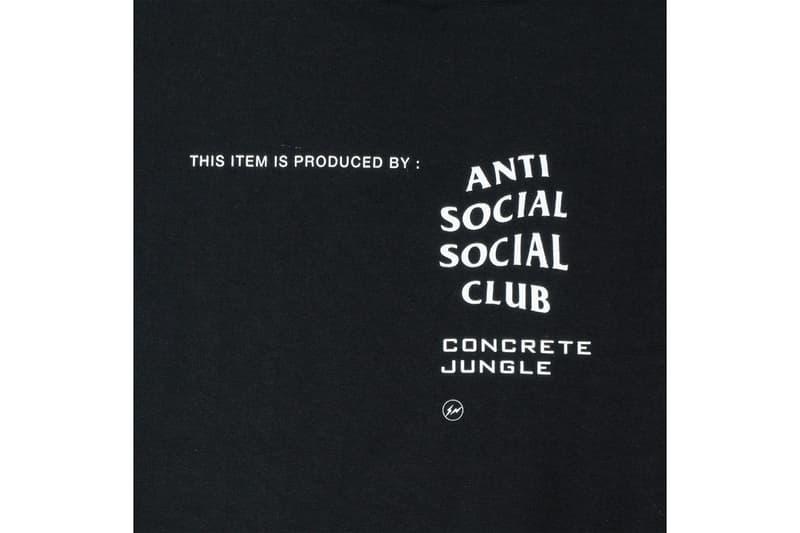 Anti Social Social Club アンチ ソーシャル ソーシャル クラブ フラグメント 藤原ヒロシ fragment コンクリートジャングル Concrete Jungle