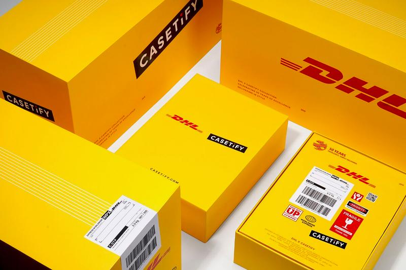 DHL CASETiFY 50th Anniversary Collection Release Info Bags T shirt Apple Iphone Airpods Charger Watch Yellow Red