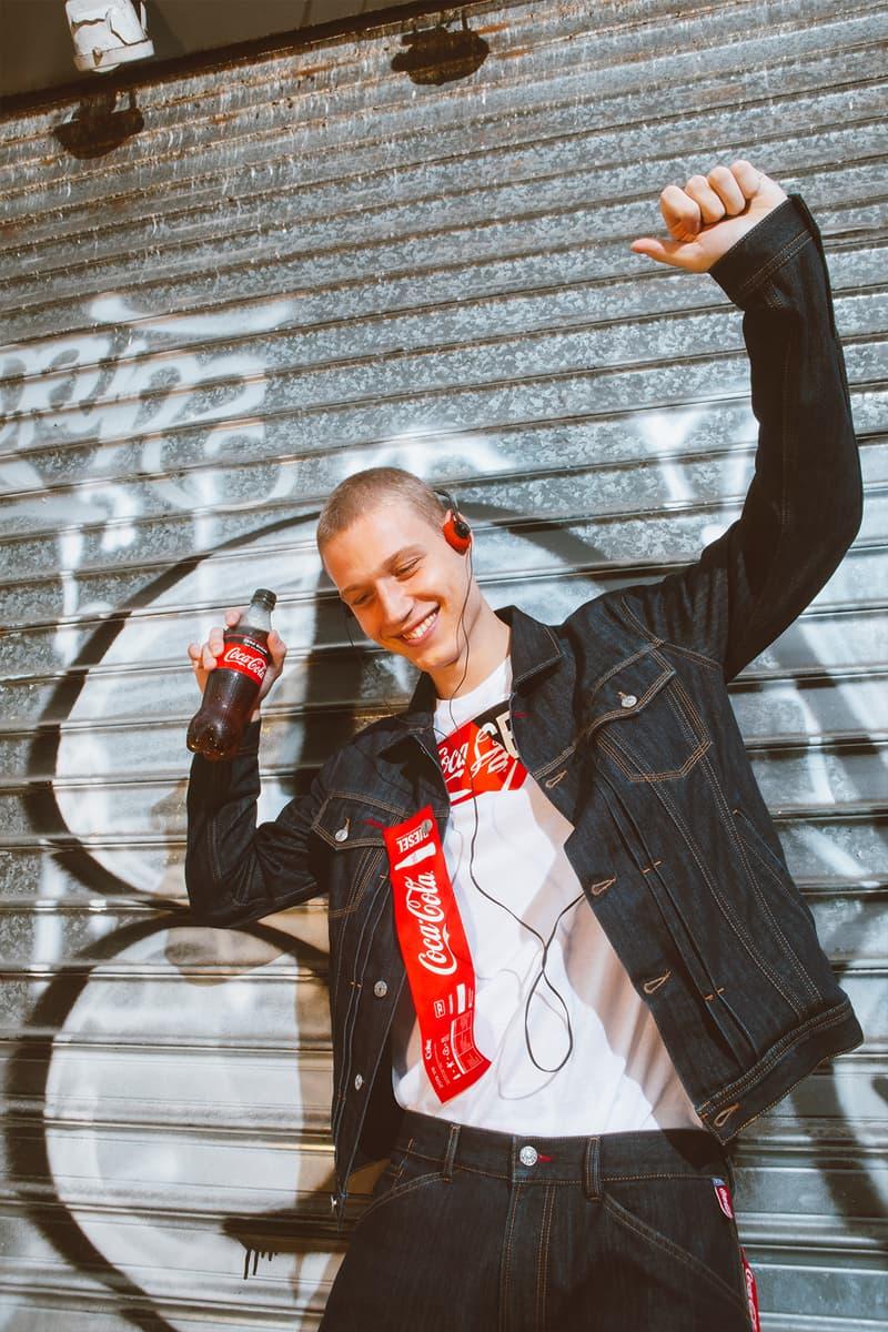 ディーゼル コカコーラ  カプセル コラボ コレクション diesel teams up with coca cola to drop its latest capsule collection titled the re-collection with the use of recycled materials  PET bottles