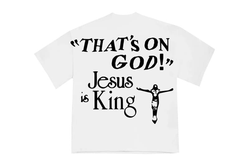 """カニエ・ウェスト カクタスプランドフリーマーケット Kanye West x CPFM 'Jesus Is King' Merch Release info cactus plant fleat market yeezy garments bible verses chick-fil-a """"closed on sunday"""" """"on god"""" lyrics"""