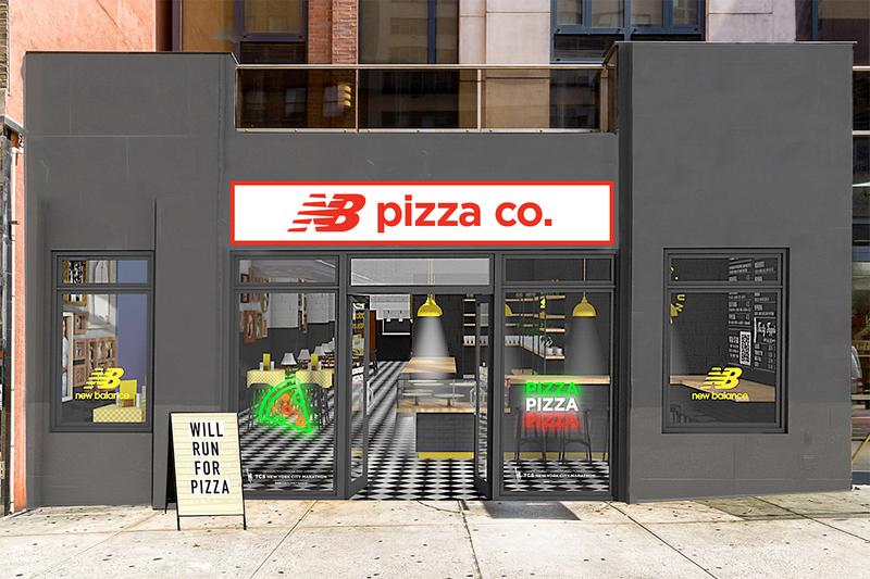 New Balance ニューバランス NB Pizza Co. Pizzeria NYC ニューヨーク マラソン 大会 Slice Miles Running Runners Marathon Training Food Exclusive Drop ピザ ポップアップ 無料 Pop-up Activation Marketing Reward