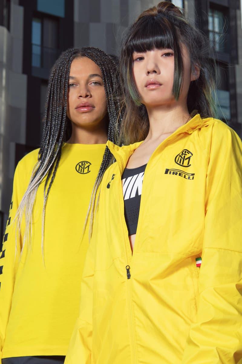 ナイキ インテルがモーターレースとフットボールの要素を融合させたカプセルコレクションをリリース Nike Debuts Inter Milan x Pirelli Racing Collection lookbooks f1 formula one race cars racetracks football soccer collaborations