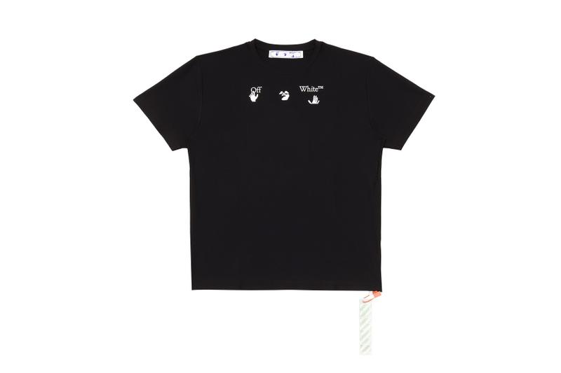 Off-White Confirms New Logo on a Range of Tees black white hands virgil abloh release information men's women's