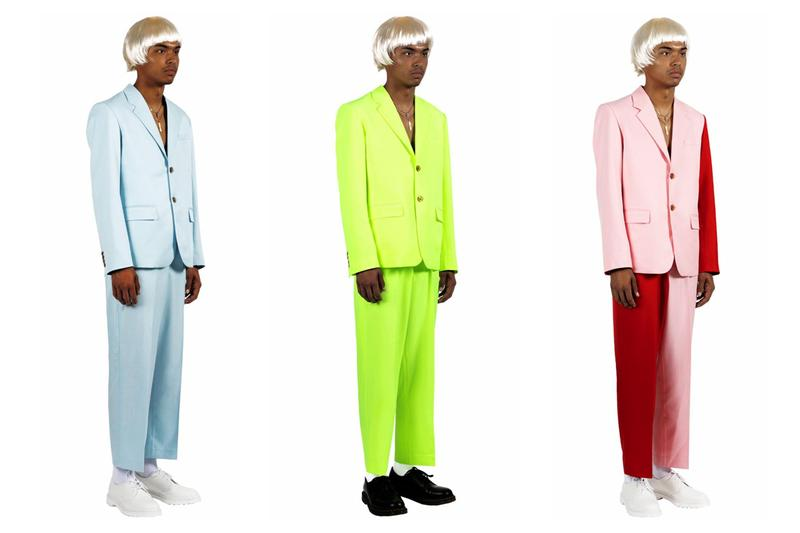 Tyler, the Creator タイラー ザ クリエイター 'IGOR' イゴール Costume コスチューム Release スーツ ハロウィン Info Powder Blue earfquake Highlighter Green Yellow Red Blazer Trousers Platinum Blonde Wig