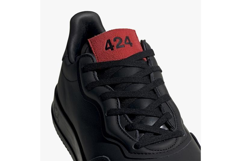 424 x アディダスのコラボスニーカーが登場 424 x adidas Consortium SC Premiere & Pro Model Release Information First Look Collaboration Originals Three Stripes Minimal Footwear Drop Cop Sneakersnstuff Black White Cream Red Label Fairfax