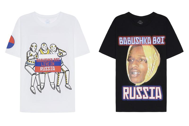 A$AP Rocky エイサップ ロッキー Limited Edition Russia ロシア ツアーTour Merchandise マーチコレクション バブシューカボーイ SVMOSCOW Babushka Boi AWGE designed prints t-shirts long sleeves shorts hat drop date release info price pictures