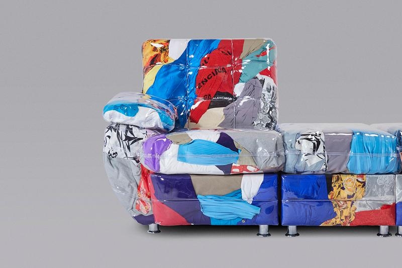 harry nuriev ハリーヌレエフ バレンシアガ balenciaga ソファー マイアミ デザイン リサイクル sofa design miami off cuts discarded clothing サステナビリティ  sustainable fashion ethical accountability first look art basel 2019