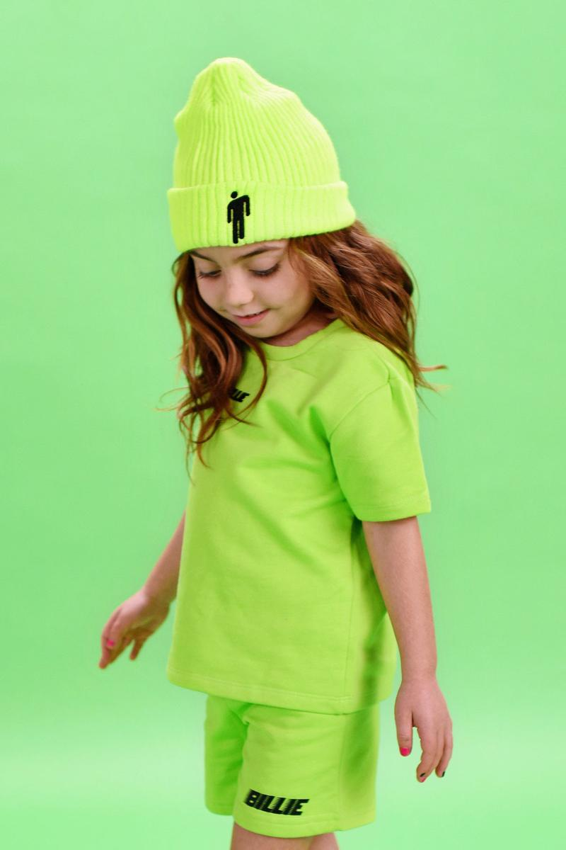 Billie Eilish ビリー・アイリッシュ Launches ベビー Kids キッズ & Infants Clothing Line merch lookbooks lime green graphics merch  ブローシュ マーチコレクション