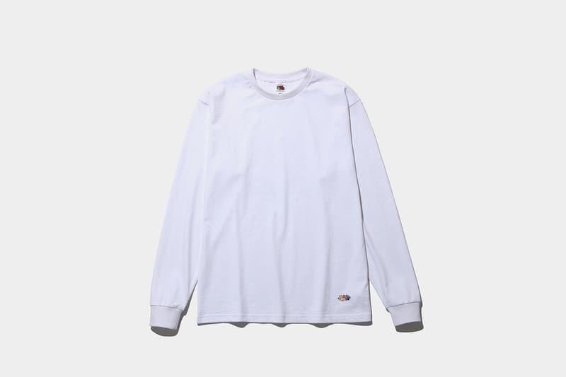 フラグメント x  フルーツオブザルーム x ザ・コンビニよるロンTが発売 fragment design x  FRUIT OF THE LOOM® x THE CONVENI のトリプルコラボによるロングスリーブTシャツが発売