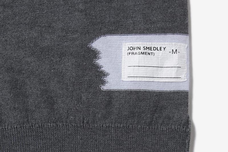 フラグメント x ジョン スメドレーの 藤原ヒロシの愛用ニットをベースとした fragment design x John Smedley のコラボアイテムが登場 fragment design John Smedley Crewneck essentials sweaters long sleeves pullovers shirts made in england sea island wear thunderbolts logo packaging ginza hiroshi fujiwara