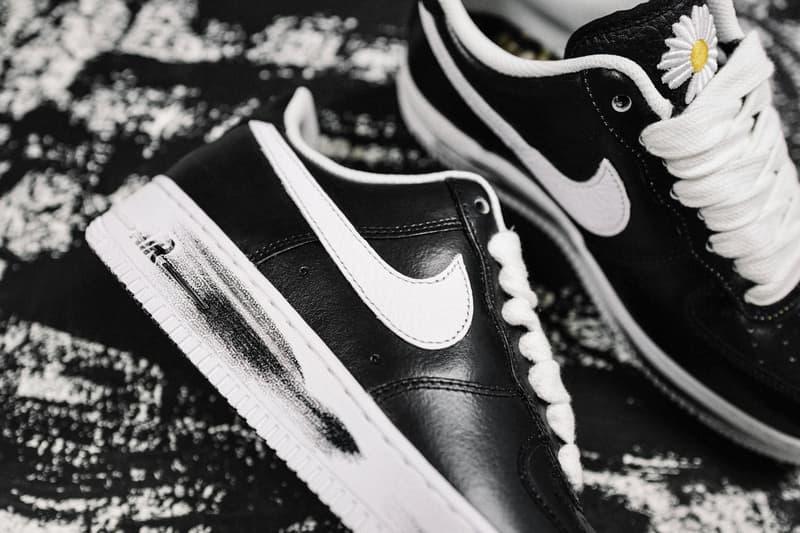 Gドラゴン x ナイキ エアフォース1  G-Dragon PEACEMINUSONE Nike Air Force 1 Para-Noise Closer Look Big Bang Kpop sneakers kicks footwear