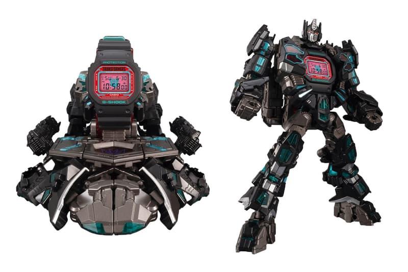 トランスフォーマー35周年を記念したG-SHOCKとのコラボ第2弾がリリース Gショック G-Shock Transformers Dark Cobe Watch Set Master Nemesis Optimus Prime collectible