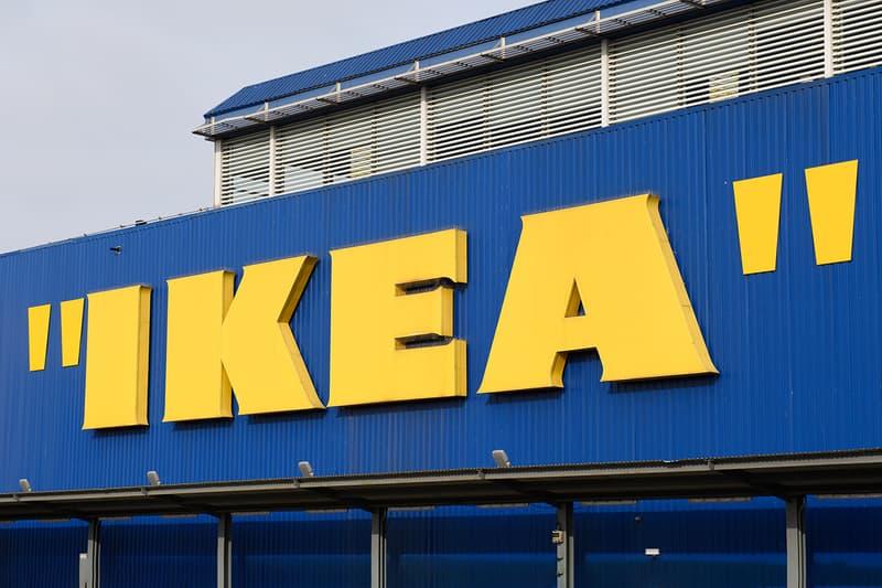 イケアの看板がヴァージル・アブロー仕様に 引用符 IKEA Quotation Mark Logo Virgil Abloh MARKERAD Collection furniture home goods line queue campout