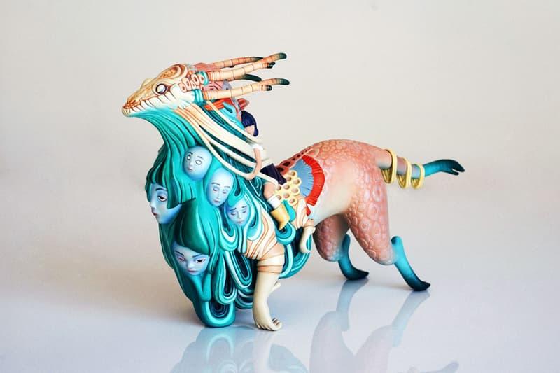 ローレン・サイがメディコムトイとタッグを組んだ彫刻作品を発表 lauren tsai medicom toy sculpture designercon artworks statues editions collectibles