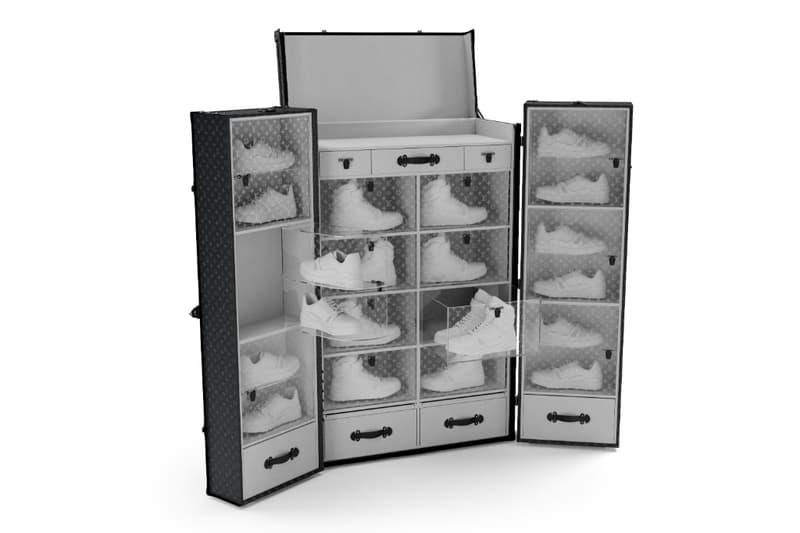 ルイ・ヴィトンがモノグラム柄をまとったスニーカートランクを製作 Louis Vuitton Sneaker Trunk shoes fall winter fw19 2019 buy cost price info details news pics images white sizes