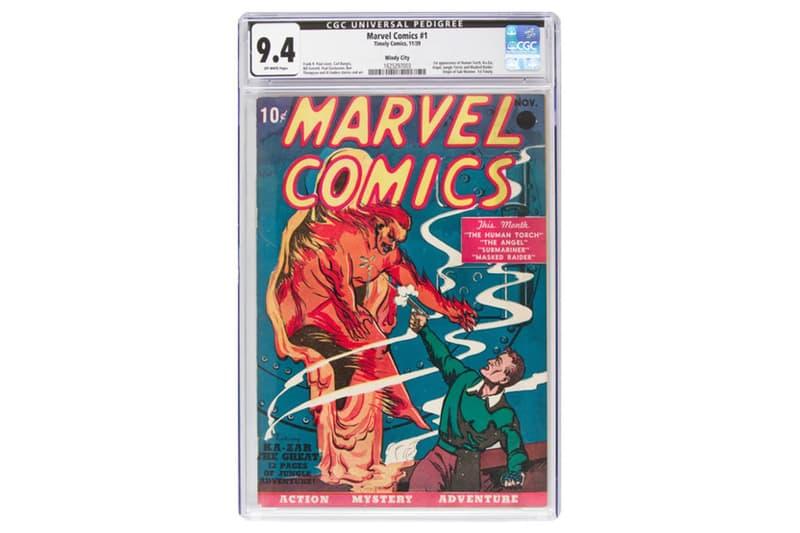 マーベル コミック 'Marvel Comics' No. 1 オークション Auctioned for $1.26 Million USD 創刊 第1巻 1億3600万円 落札 126万ドル superhero universe highest-rated copy of 1939 issue heritage auctions