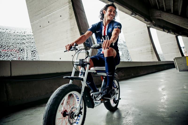 PSG が SUPER73 とタッグを組んだ電動アシスト付き自転車をリリース Paris Saint-Germain x SUPER73 Electric Motorbike psg football club automotive bikes sports collaborations