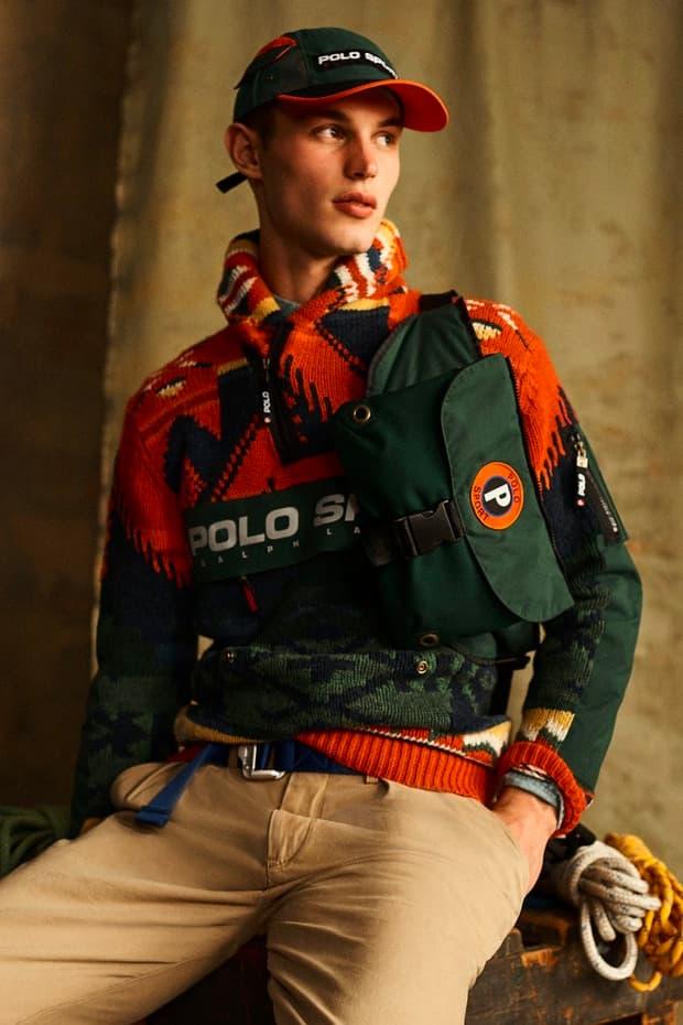 """ラルフローレンがアーカイブを再解釈した""""ポロスポーツアウトドア""""を発表 Polo Ralph Lauren Polo Sport Outdoor collection poncho patchwork mountaineering trail hiking alpine apparel fall winter 2019 1998 90s reissue"""