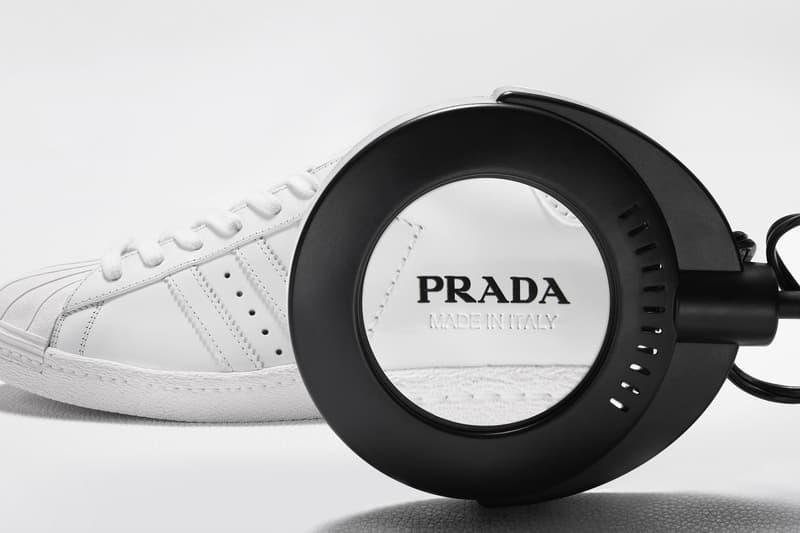アディダスとプラダによるコラボレーションの全貌が明らかに Prada Adidas Superstar & Bowling Bag First Look Release info Date Buy White Milan Limited 700 optic white