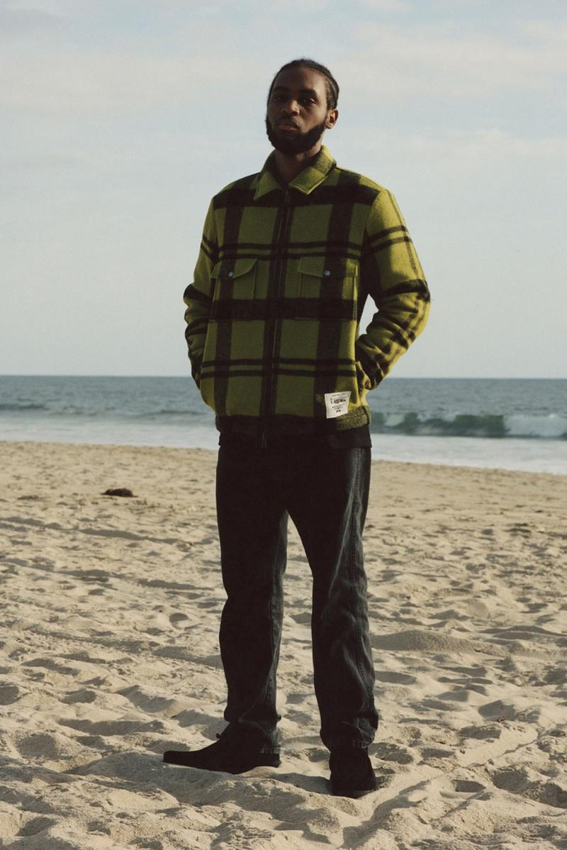 ステューシー / ウールリッチによるコラボワークシャツが発売 stussy woolrich wool work shirt plaid green black made in usa us release date info photos