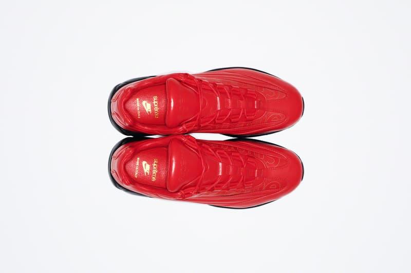 シュプリーム x ナイキ エアマックス95 Supreme x Nike からイタリア製レザーを用いた高級感漂う Air Max 95 Lux が登場