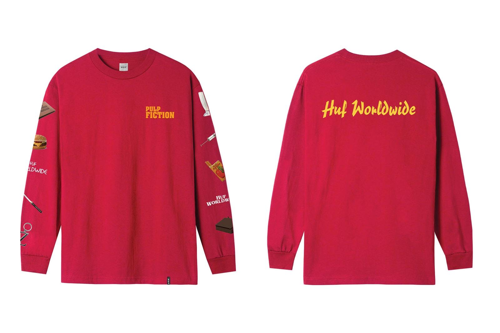 HUF がタランティーノの代表作『パルプ・フィクション』の25周年記念コレクションをリリース HUF releases 25th anniversary collection for Quentin Tarantino's movie『Pulp Fiction』