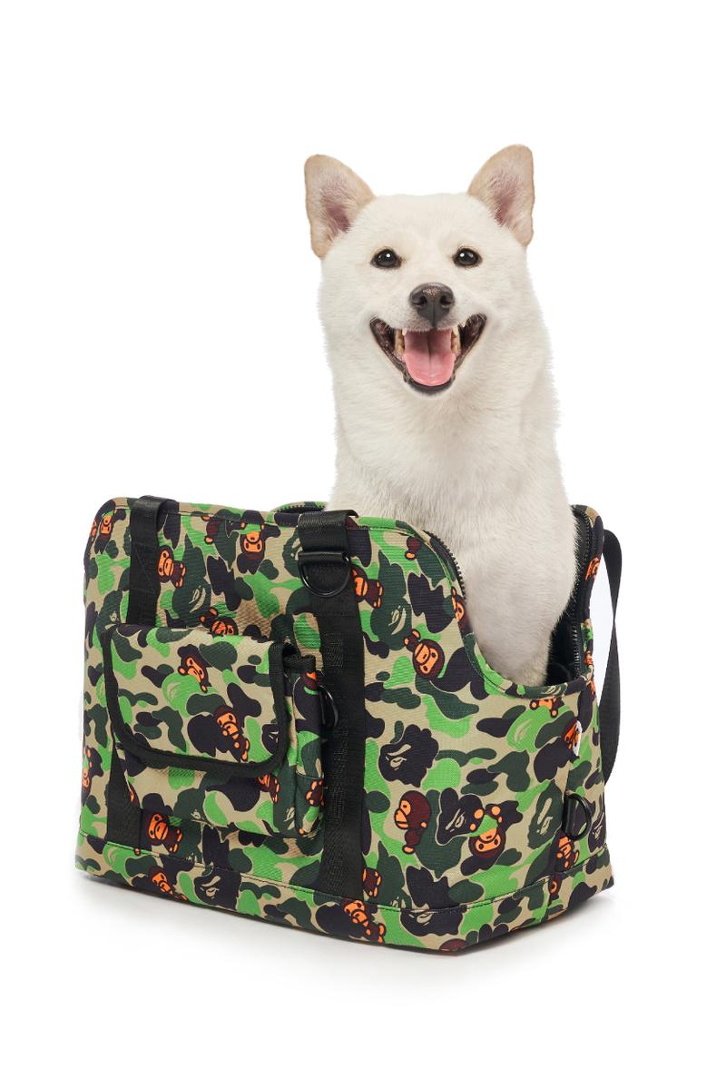 BAPE®️から2019年秋冬ペットコレクションが登場 Baby Milo Pet Accessories Fall/Winter 2019 dogs cats camo print bape a bathing ape beds bags toys ape head