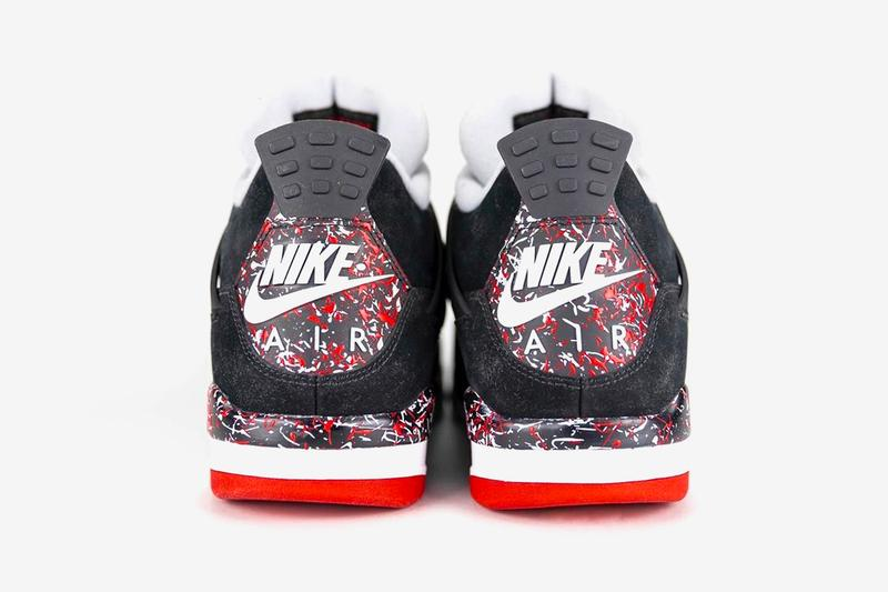Drake OVO Air Jordan 4 Better Look Paint Splatter Black Red Bred Release Info Date Buy Price
