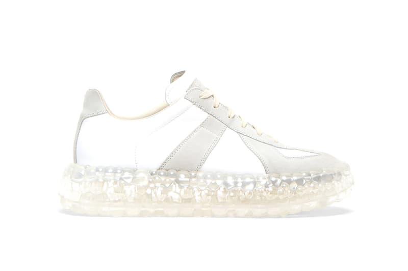"Maison Margiela からエアソールを装着したジャーマントレーナーが登場 Maison Margiela Replica Super Bounce Sneakers ""Grey"" First Look Closer Spring Summer 2020 SS20 LN-CC Pre-Order High End Luxury Footwear Runway"