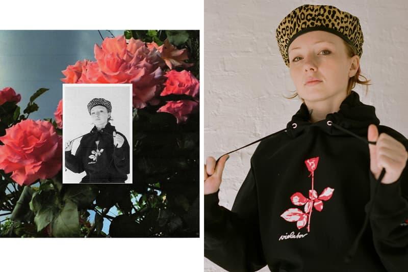 """ノア NOAH から デペッシュ・モード Depeche Mode をフィーチャーしたカプセルコレクションが発売 NOAH Depeche Mode 'Violator' Capsule Collection T-shirts Hoodies Knitwear Long Sleeves Rose """"Personal Jesus"""" """"World in My Eyes"""" """"Enjoy the Silence"""" """"Policy of Truth"""" Beanies Scarves Jackets"""