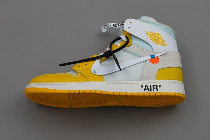 """オフホワイト x ナイキ エアジョーダン1 Off-White™ x Nike Air Jordan 1 """"Canary Yellow"""" が2020年リリース? Off White Air Jordan 1 Canary Yellow Release Rumor Bam Margiela Teaser info Buy Virgil Abloh White"""