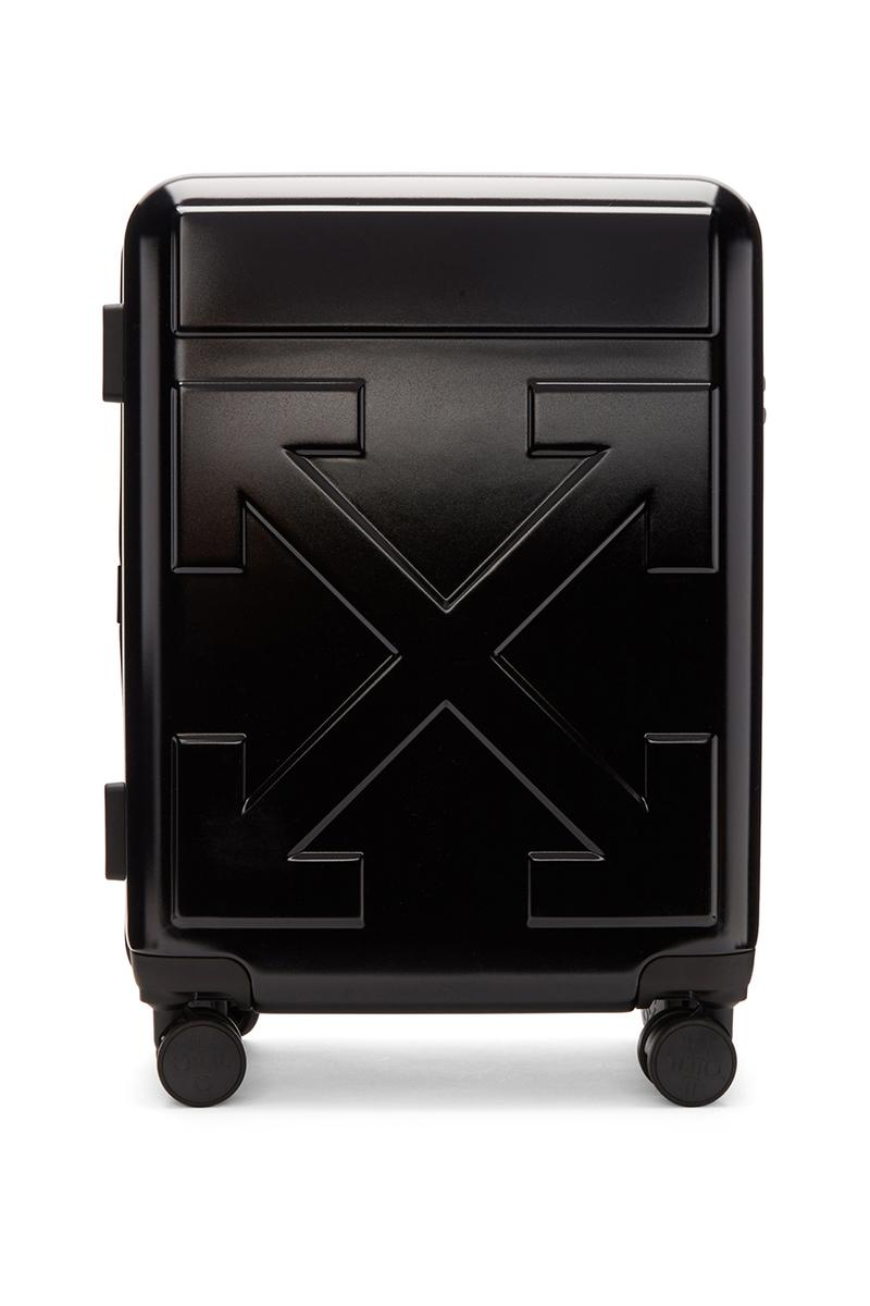 """Off-White™️がオリジナルのスーツケース3型をリリース Off-White™ Arrows """"FOR TRAVEL"""" Suitcases Release Information First Look Travel Virgil Abloh Streetwear Black Yellow White SSENSE How to Cop Luggage"""