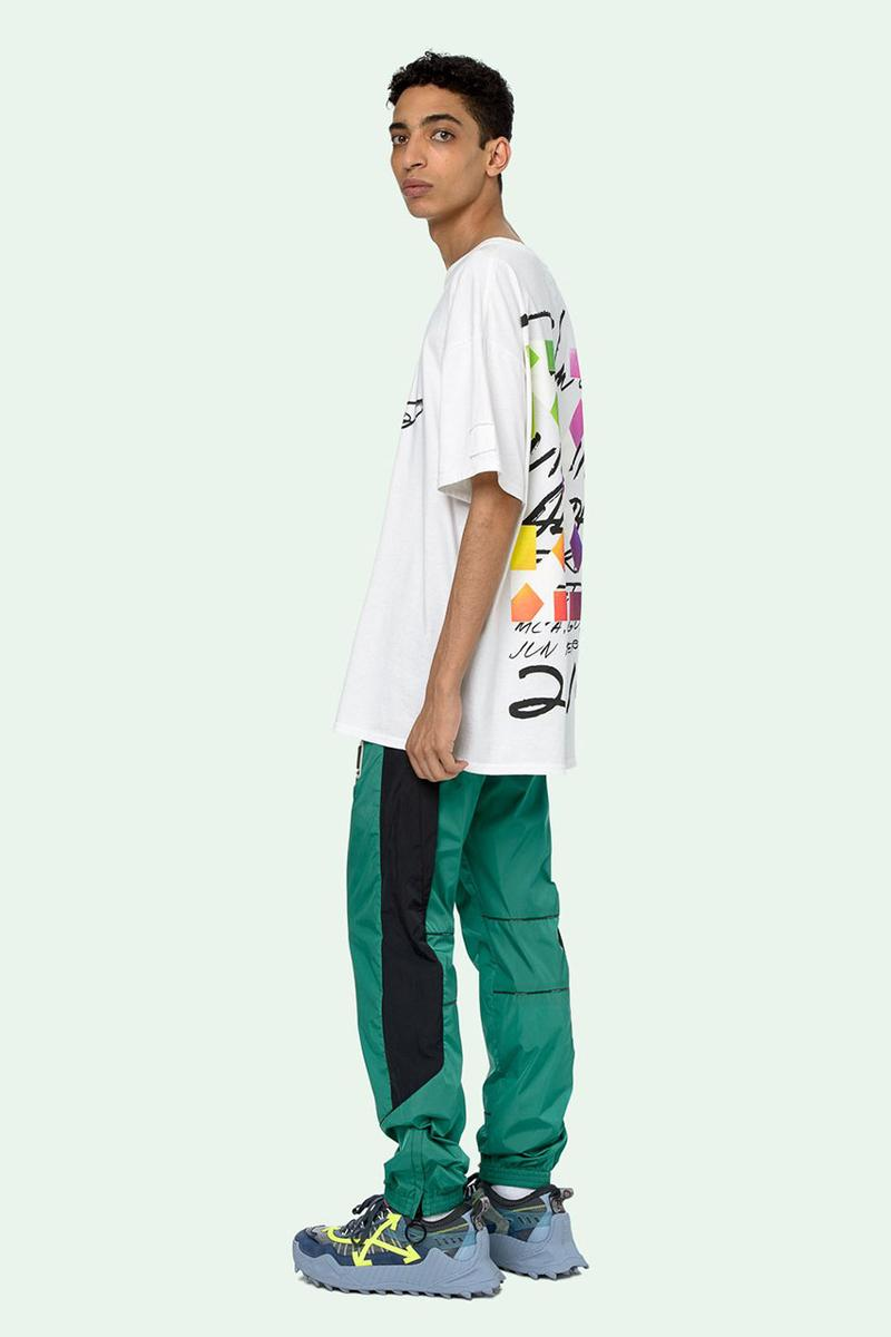 Off-White™️がFuturaとのコラボTシャツのプレオーダーを開始 Off-White™ c/o Futura Alien Short Sleeve Over T-Shirt Pre-Order Live Closer Look Drop Information Virgil Abloh FL-001 Figure Cross Design