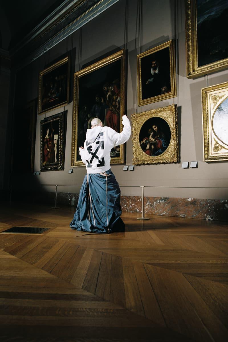 Off-White™ × ルーブル美術館 からレオナルド・ダ・ヴィンチの没後500年を記念したカプセルコレクションが発売 Musée du Louvre x Off-White™ Capsule Collection Leonardo da Vinci T-shirts Hoodies Black White Orange Paintings 'Virgin of the Rocks' 'The Virgin and Child with Saint Anne'