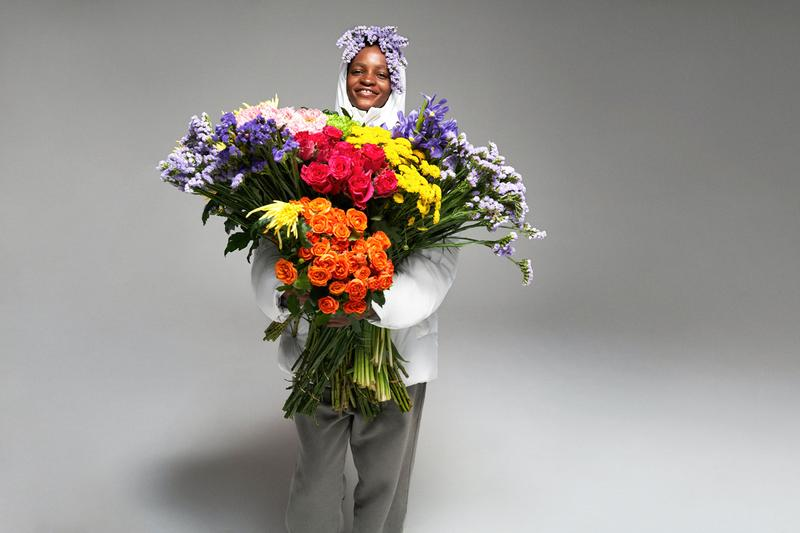 PANGAIA パンゲア FLWRDWN フラワー 野花 パファージャケット Puffer Jackets Release Info Short Long Matte オフホワイト ファレル・ウィリアムス Off White Black Navy flowers down jacket coat