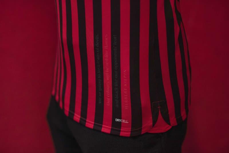 ACミランの創立120周年を記念した限定ユニフォームが発売 AC Milan 120th Anniversary PUMA Kit soccer football jerseys black red gold track jacket football devil logo Herbert Kilpin gold black red stripes limited edition Suso