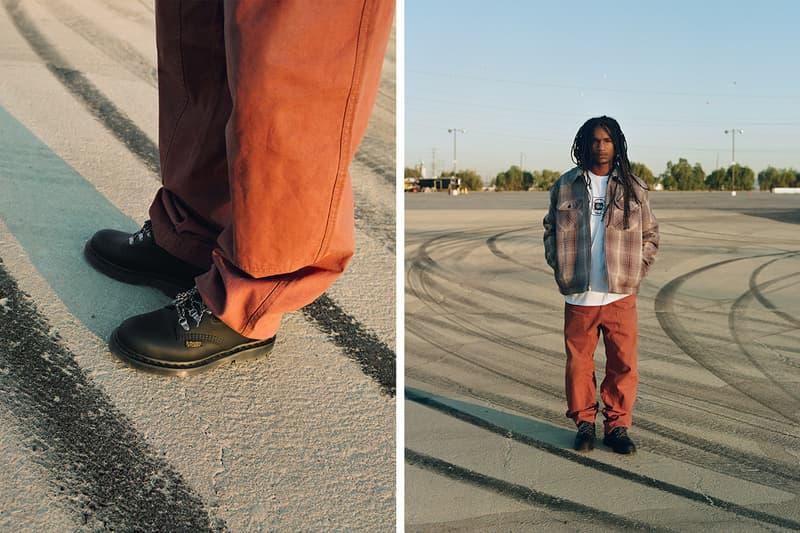 ステュシー/ ドクターマーチンによる最新コラボフットウェアが登場 Stussy Dr Martens 8053 HY 2019 Capsule wintergrip midsole traction open channels workwear boots shoes footwear fall winter rubber pvc trainers mid cut chukka sneakers streetwear