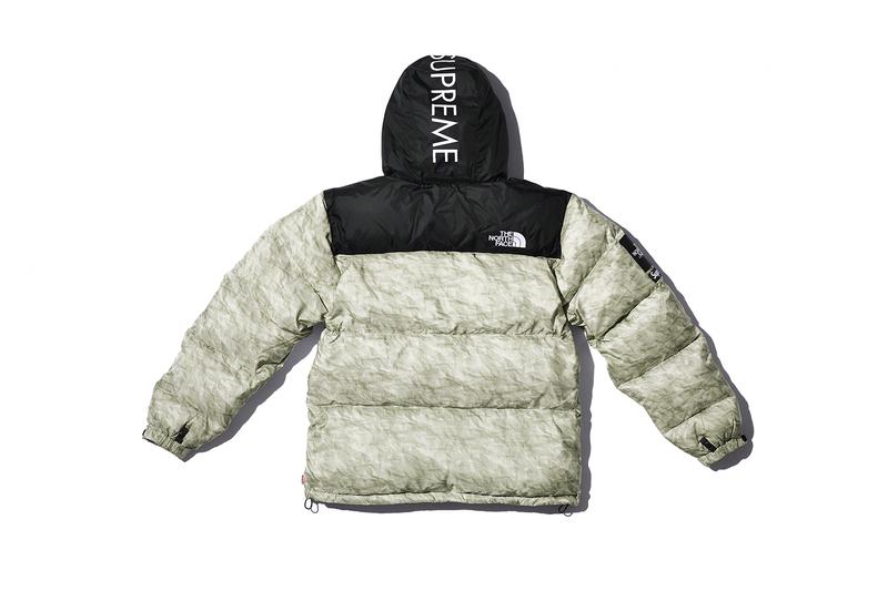 シュプリーム x ノースフェイスからヌプシコレクションが登場 Supreme x The North Face Winter 2019 Nuptse Collection Jackets Scarf Pants Snow Japan New York TNF 700-Fill paper print