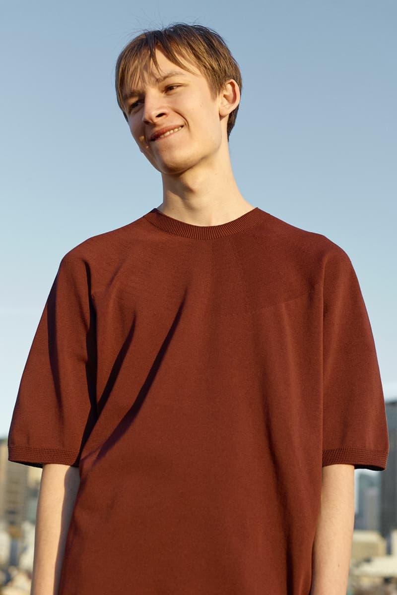 ニューバランス x オーラリーがカプセルコレクションを発表 AURALEE x New Balance SS20 COMP100, Apparel collaboration collection spring summer 2020 japan sneaker wholegarment cotton knit pants sweater