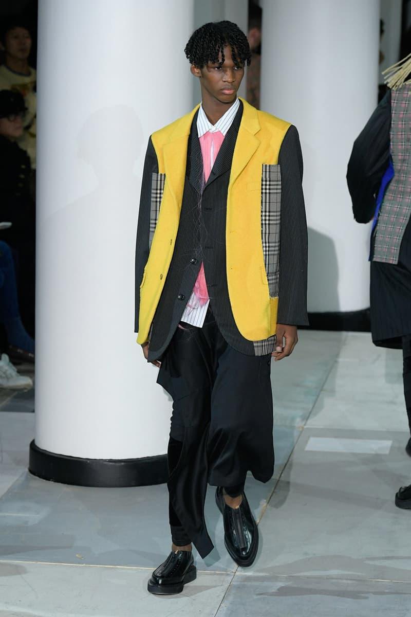 コム デ ギャルソン・オム プリュス COMME des GARÇONS HOMME PLUS FW20 fall winter 2020 collection menswear runway george cox collaboration sneaker paris fashion week pfw