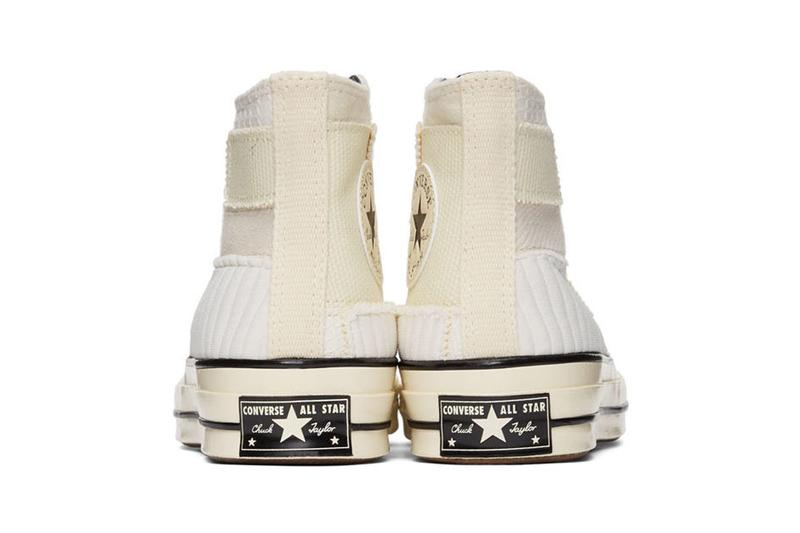 converse コンバース chuck チャック 70 hi high top ハイトップ patchwork パッチワーク green off white オフホワイト colorways sneaker release hightop panelled canvas twill ripstop jersey